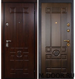 Стальная дверь МДФ с двух сторон