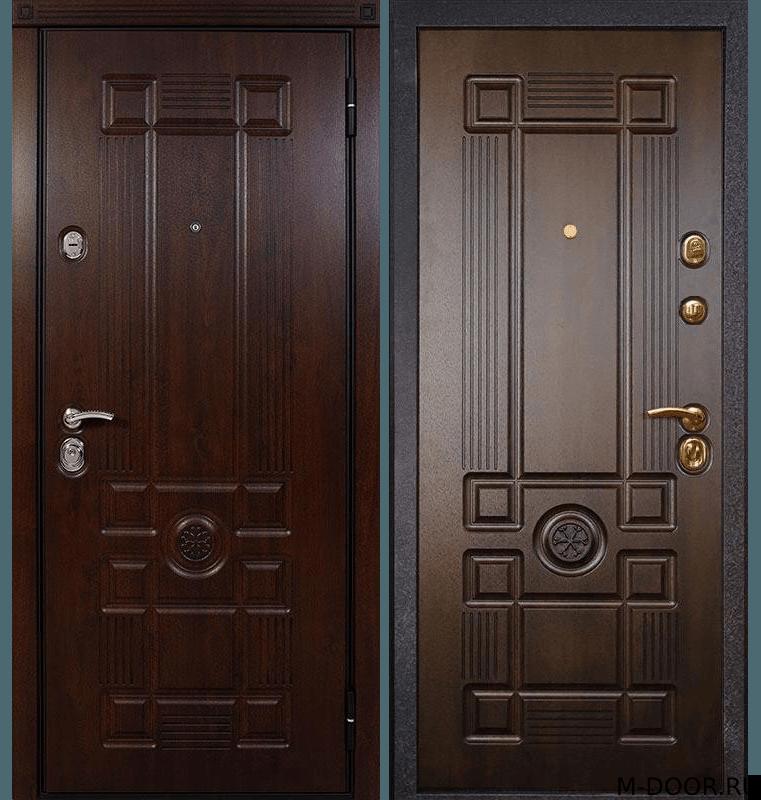 Парадная стальная дверь МДФ с двух сторон