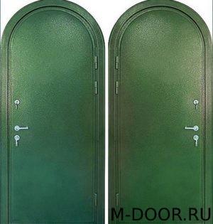 Стальная арочная дверь порошковое напыление c двух сторон
