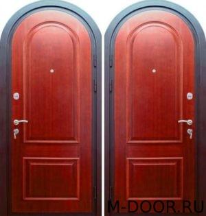 Стальная арочная дверь МДФ с двух сторон 4