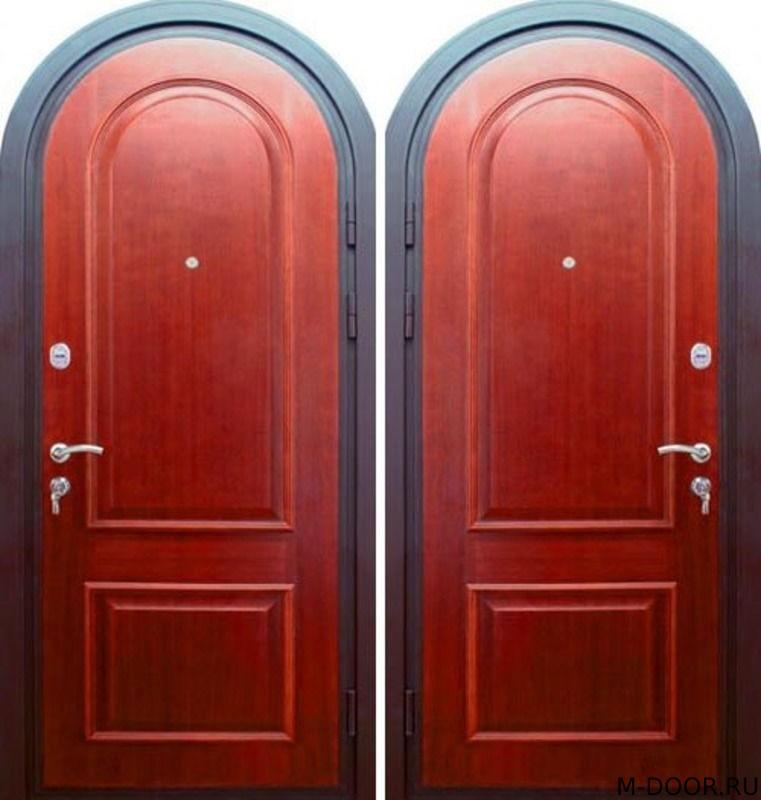Стальная арочная дверь МДФ с двух сторон