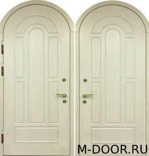 Металлическая арочная дверь МДФ с двух сторон