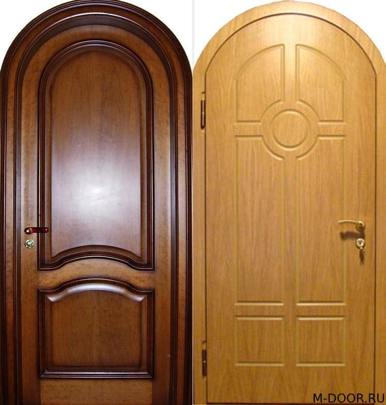 Стальная арочная дверь с отделкой МДФ
