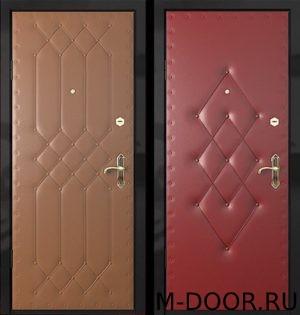 Металлическая утепленная дверь с винилискожей (дутая) 2