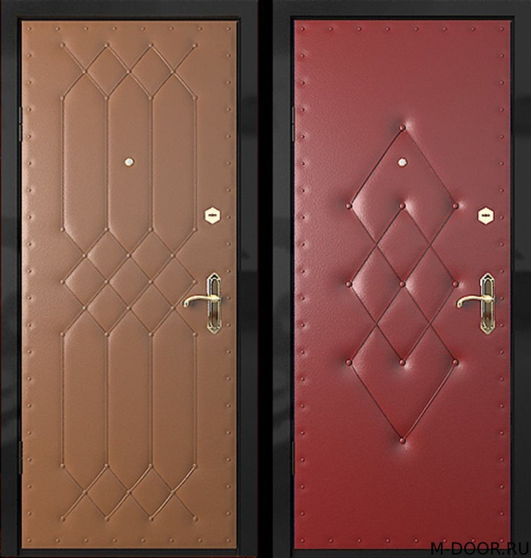 Металлическая утепленная дверь с винилискожей (дутая)