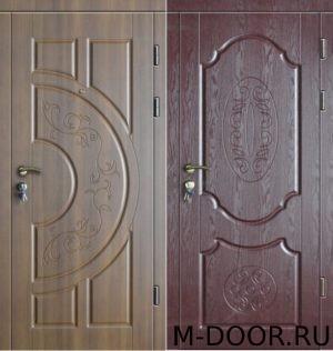 Стальная трехконтурная дверь МДФ(Vinorit)