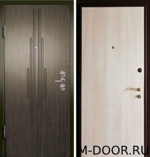 Металлическая дверь с отделкой МДФ и ламинат 5