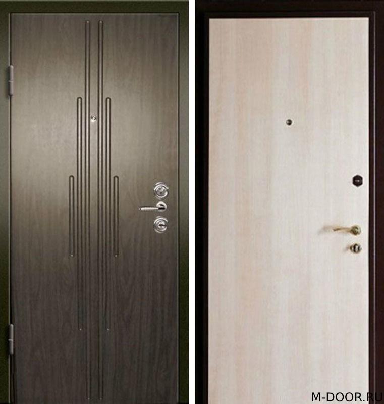 Металлическая дверь с отделкой МДФ и ламинат