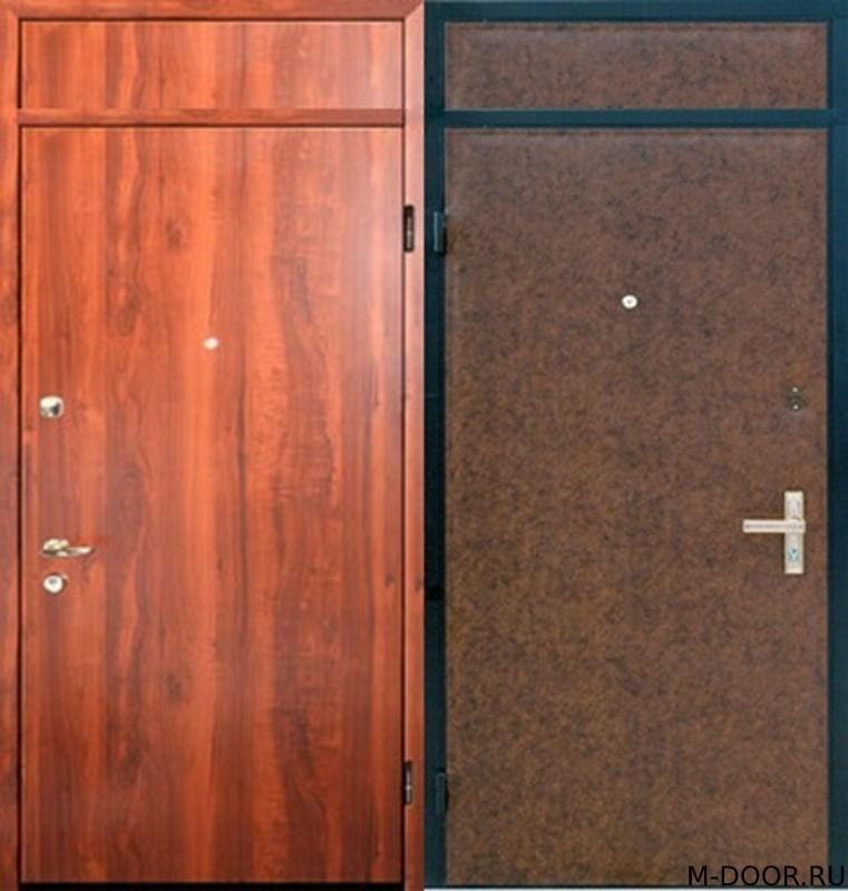 Стальная дверь с отделкой ламинат и винилискожа