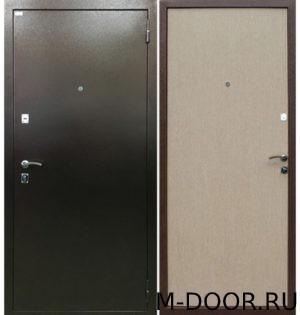 Металлическая дверь порошковое напыление и ламинат 1