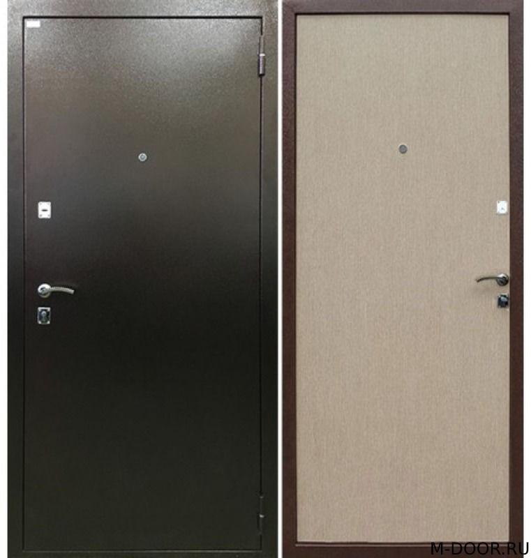 Металлическая дверь порошковое напыление и ламинат