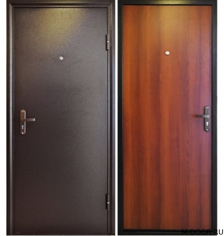 Стальная дверь порошковое напыление и ламинат