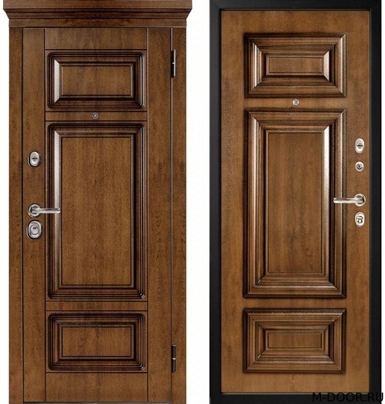Металлическая дверь с отделкой массив с двух сторон