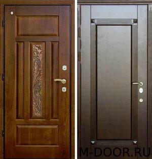 Железная дверь с отделкой массив с двух сторон 2