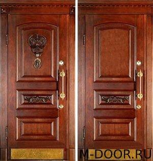Входная дверь массив с двух сторон 1