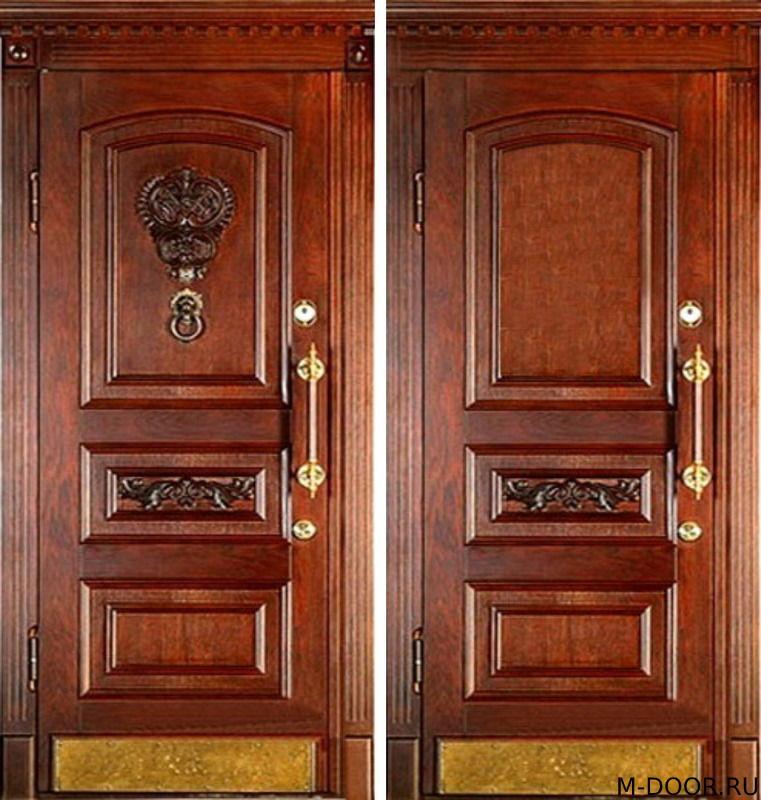 Входная дверь массив с двух сторон