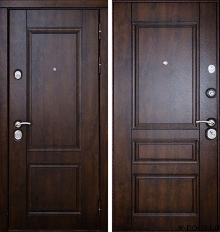 Стальная дверь с отделкой массив