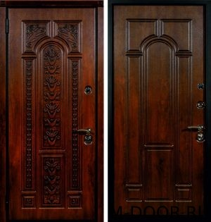 Металлическая дверь массив с двух сторон
