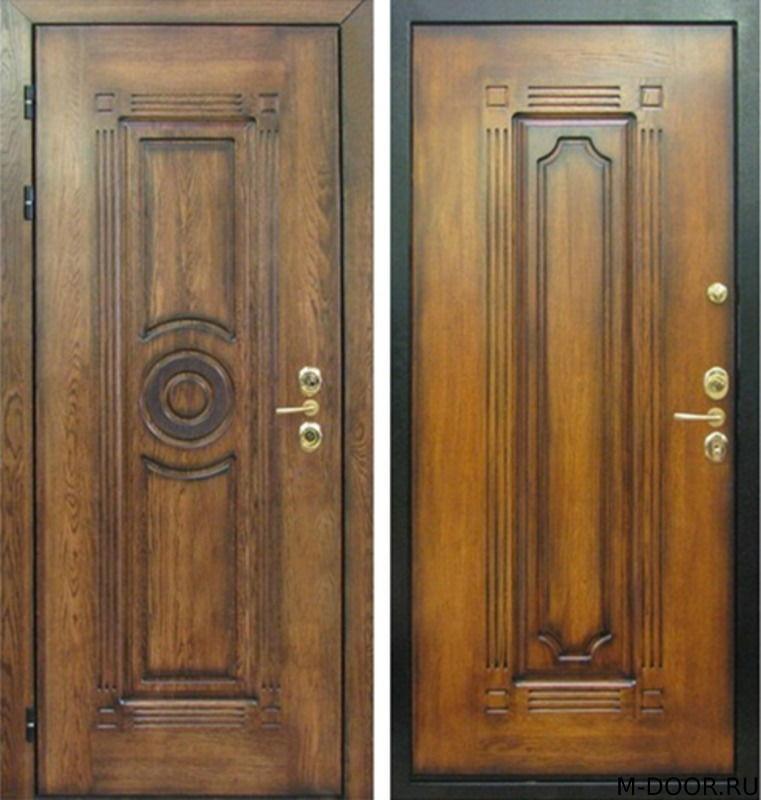 Стальная дверь массив с двух сторон