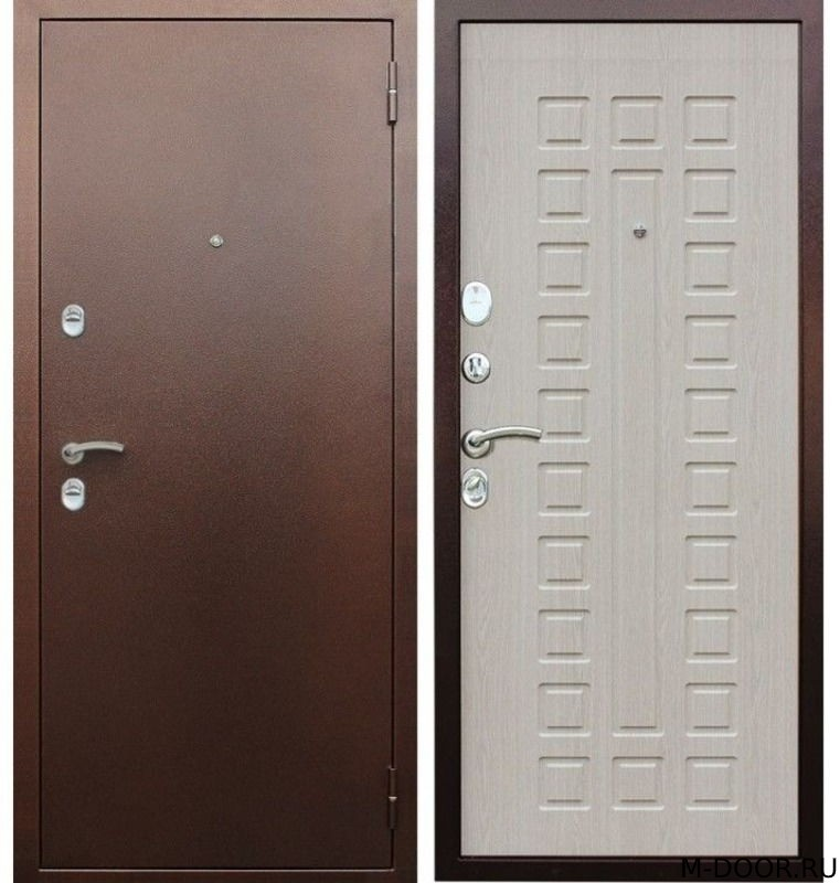 Стальная дверь с отделкой порошковое напыление и МДФ