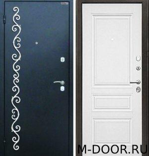 Стальная дверь порошковое напыление с ковкой и МДФ 10 мм 1