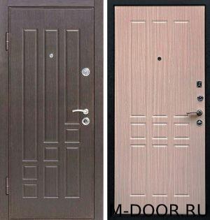 Стальная дверь в офис с отделкой МДФ с двух сторон