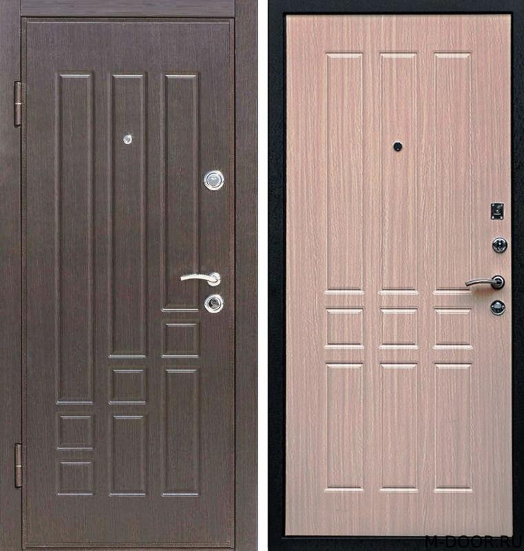 Стальная наружная дверь МДФ с двух сторон