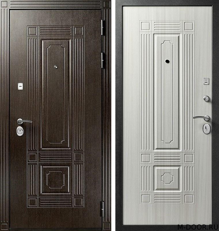Металлическая дверь с отделкой МДФ с двух сторон