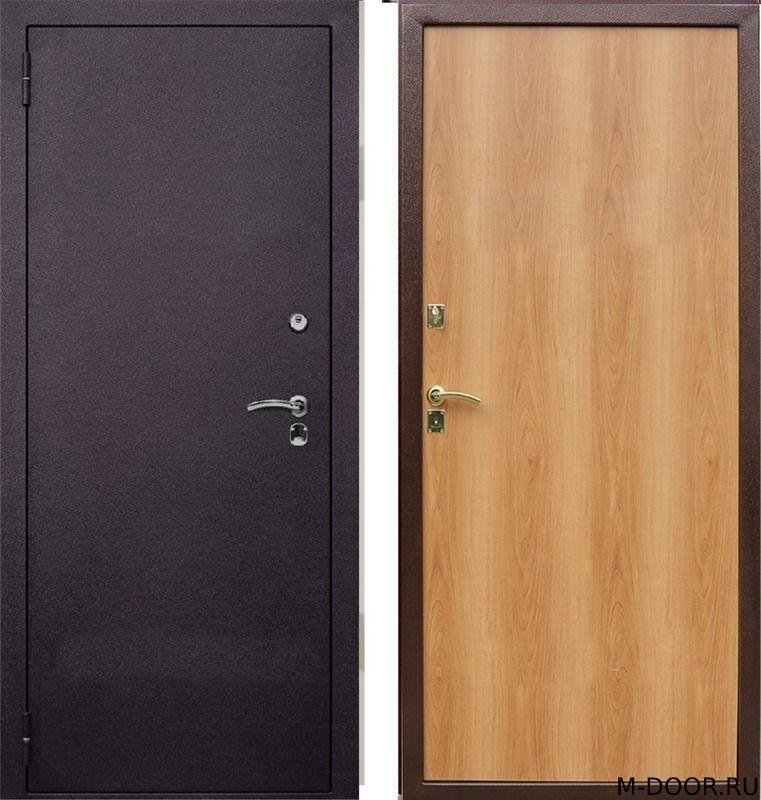 Стальная дверь в квартиру порошковое напыление и ламинат