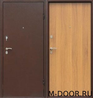 Входная дверь с отделкой порошковое напыление и ламинат 3