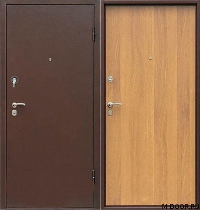 Стальная трехконтурная дверь порошок и ламинат