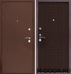 Входная наружная дверь порошковое напыление и МДФ 6