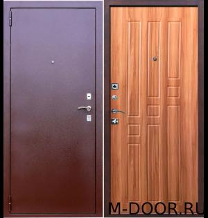 Наружная стальная дверь порошковое напыление и МДФ 1