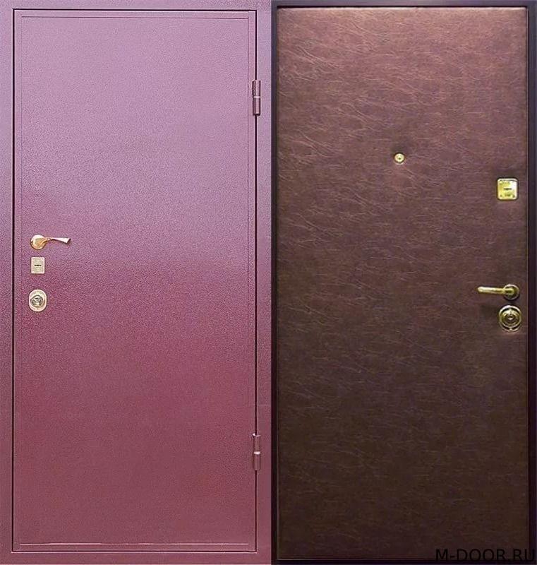 Железная дверь порошковое напыление и винилискожа
