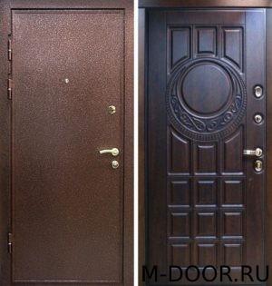 Наружная дверь порошковое напыление и филенчатая панель 10