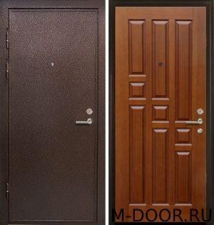 Стальная дверь порошковое напыление и филенчатая панель 1