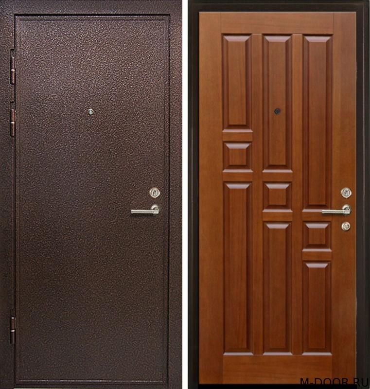 Стальная дверь порошковое напыление и филенчатая панель