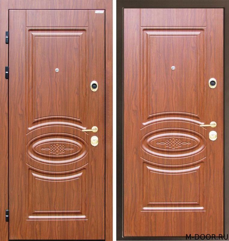 Стальная дверь с филенчатыми панелями