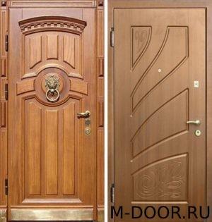 Металлическая дверь с отделкой филенка 2