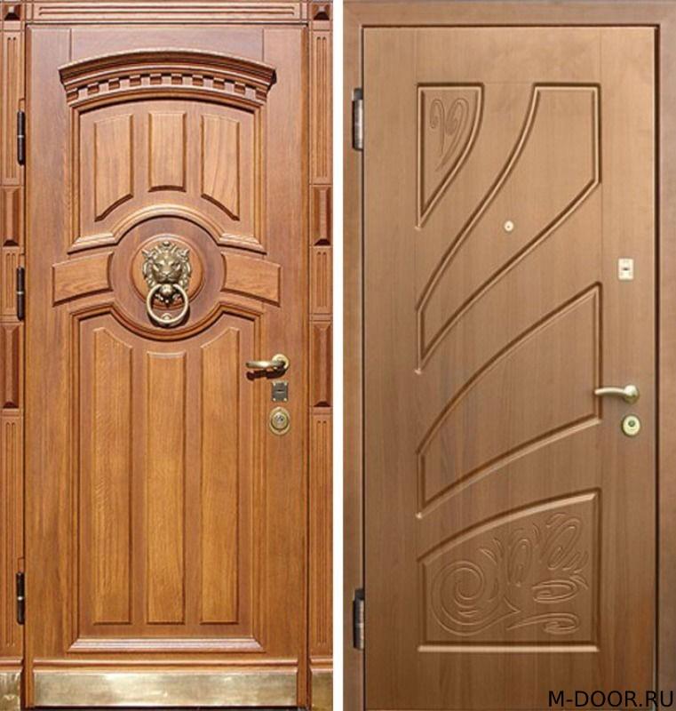 Металлическая дверь с отделкой филенка