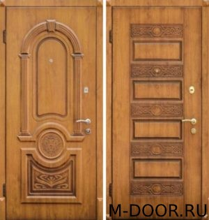 Стальная дверь филенка с двух сторон 4