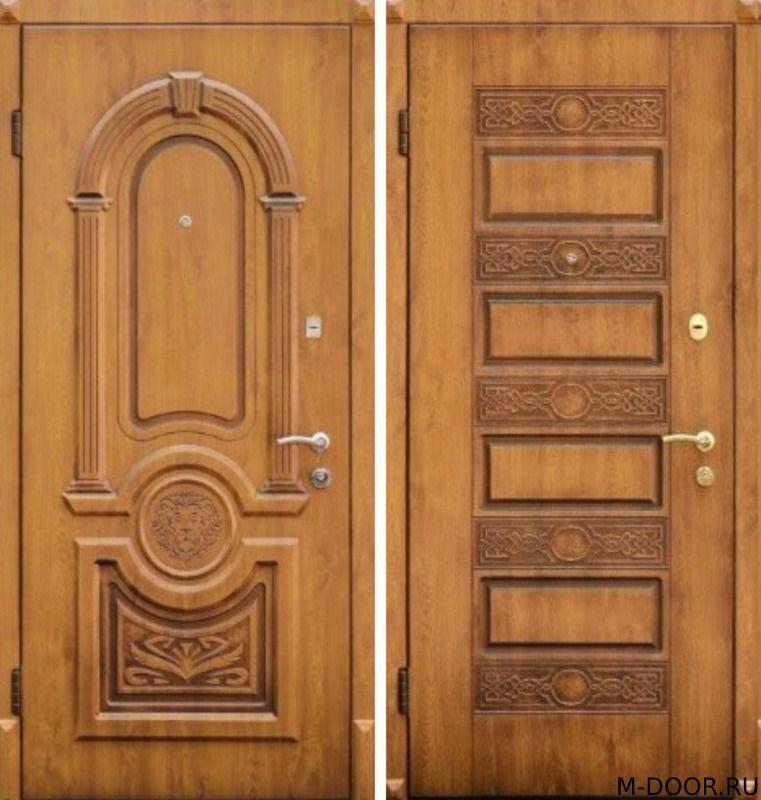 Стальная дверь филенка с двух сторон