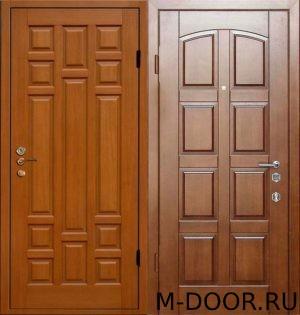 Металлическая дверь с филенчатыми панелями 2