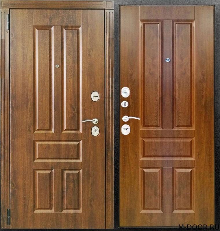 Металлическая дверь филенчатая панель двух сторон