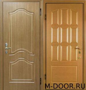 Стальная дверь МДФ(ПВХ) 10 мм и филенчатая панель 1