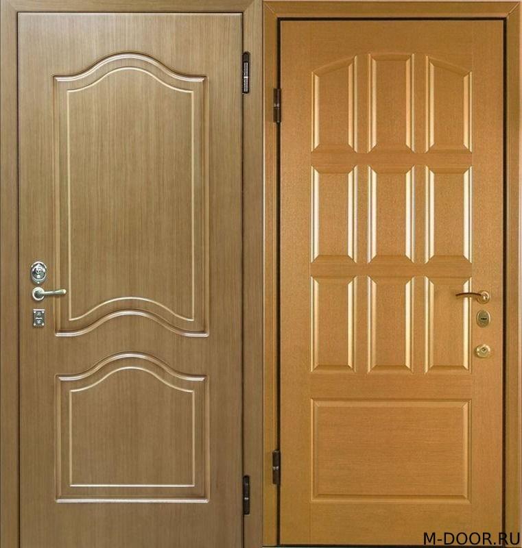 Стальная дверь МДФ(ПВХ) 10 мм и филенчатая панель