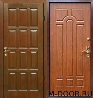 Стальная дверь филенчатая панель и МДФ(ПВХ) 10 мм 1