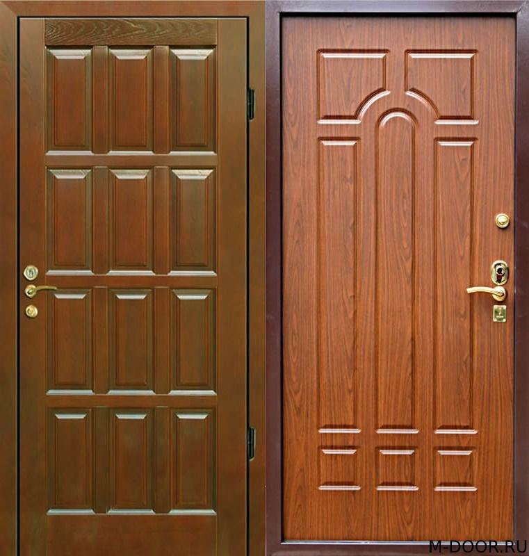 Стальная дверь филенчатая панель и МДФ(ПВХ) 10 мм