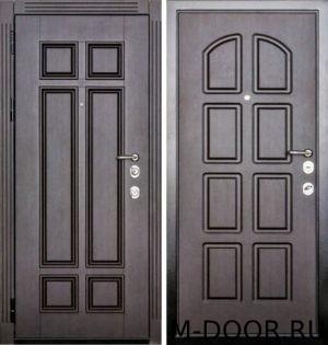 Стальная дверь в коттедж с отделкой МДФ с двух сторон 1