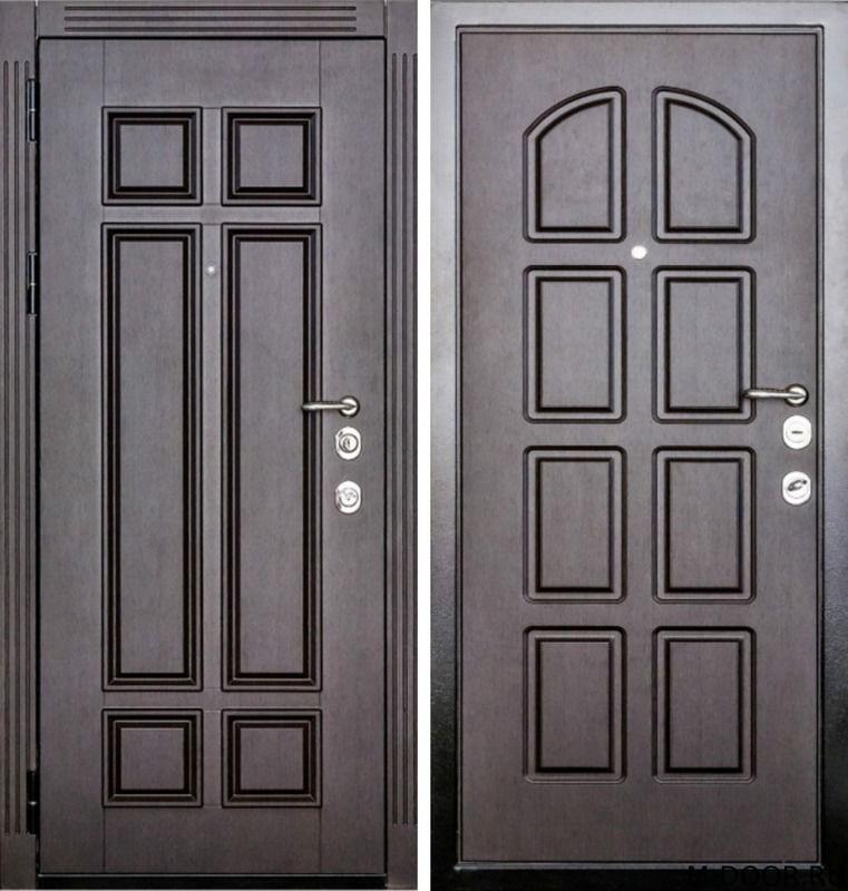 Стальная дверь филенчатая панель и МДФ